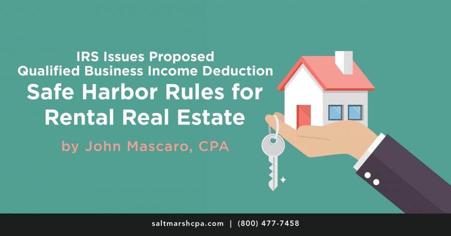 Safe Harbor Rules For Rental Real Estate